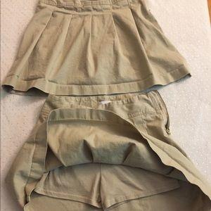 2 Girl uniform skirt skorts adjustable waist  EUC